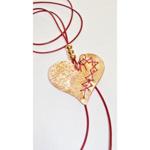 Κολιέ (60 εκ.) επιχρυσωμένο καρδιά