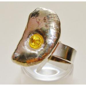 Ασημένιο δακτυλίδι με ζιργκόν