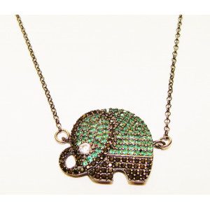 Ασημένιο μοτίφ - elephant
