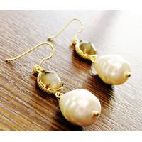 Σκουλαρίκι pearl baroque