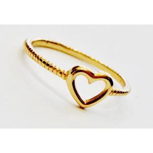 Ασημένιο δαχτυλίδι - καρδούλα
