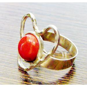Ασημένιο δαχτυλίδι - καρδιά