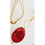 Necklace with agate ruby