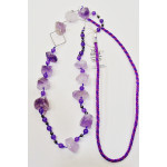 Necklace with fluorite