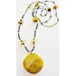 Necklaces (58 cm) with agate