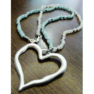 Κολιέ μακρύ (55 εκ.) καρδιά