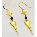 Earring star- heart with agate