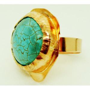 Δαχτυλίδι με λίθο τυρκουάζ