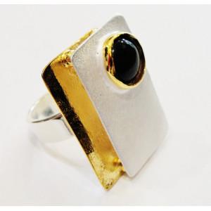 Διπλό ασημένιο (925ο) δαχτυλίδι